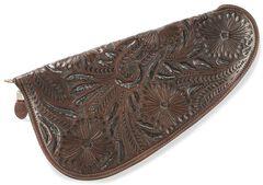 3D Large Floral Tooled Leather Pistol Case, , hi-res
