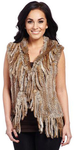 Cripple Creek Women's Faux Rabbit Fur Vest, , hi-res