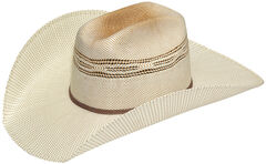 Twister Men's Two-Tone Bangora Straw Cowboy Hat, Two Tone, hi-res