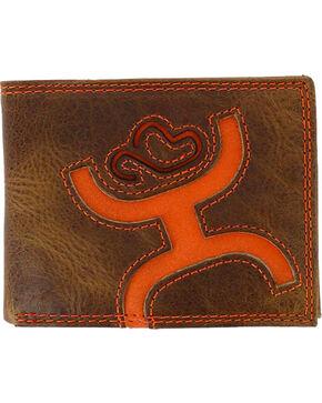 Hooey Men's Signature Leather Bi-Fold Wallet, Brown, hi-res