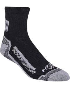 Carhartt Force Men's High Performance Work Quarter Sock - 3 Pack, Black, hi-res
