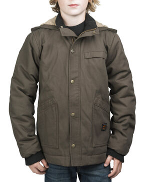 Walls Youth Cameron Insulated Hooded Jacket, Bark, hi-res