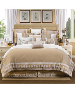 HiEnd Accents Cream Newport Duvet Cover Set - Queen , , hi-res