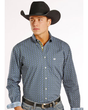 Rough Stock by Panhandle Slim Men's Hayden Vintage Print Western Shirt, Print, hi-res