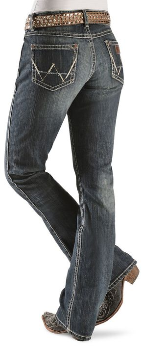 """Wrangler Jeans - Antique Denim Mae Premium Patch Jeans - 30""""-36"""", Denim, hi-res"""