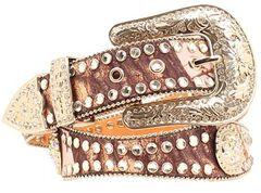 Blazin Roxx Pink Mossy Oak Embellished Belt, , hi-res