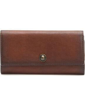 Frye Women's Melissa Snap Wallet , Cognac, hi-res