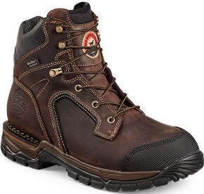 Red Wing Irish Setter Two Harbors Hiker Waterproof Work Boots - Soft Round Toe  , Brown, hi-res