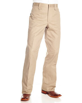 Circle S Men's Snap Dress Ranch Pants, Beige/khaki, hi-res