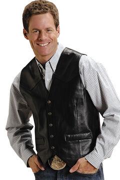 Roper Lamb Leather Vest, , hi-res