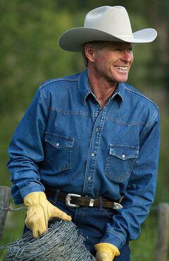 Schaefer Abilene Denim Work Shirt, , hi-res