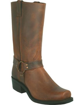 Boulet Motorcycle Boots - Square Toe, Golden Tan, hi-res