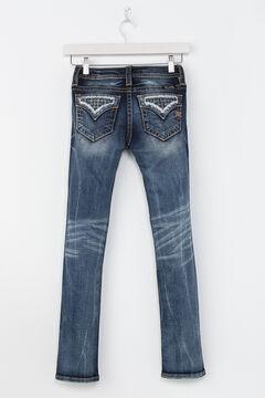Miss Me Girls' Indigo Rogue Distressed Pocket Jeans - Skinny , , hi-res