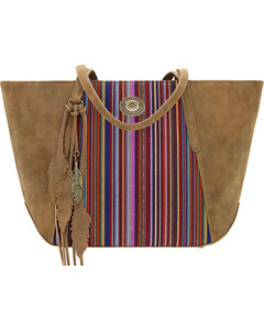 American West Bandana Women's Serape Zip Top Tote , , hi-res