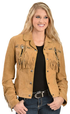 Scully Suede Fringe and Beaded Jacket, , hi-res
