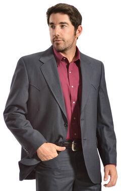 Circle S Men's Lubbock Slate Blue Suit Coat, , hi-res