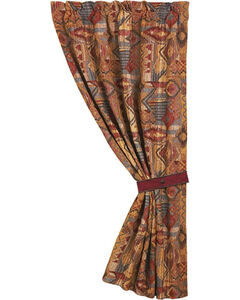 "HiEnd Accents Ruidoso Collection Patchwork Curtain Panel - 48"" x 84"", Multi, hi-res"