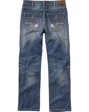 Silver Boys' Benny Straight Leg Jeans - 8-16, Denim, hi-res