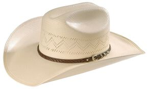 Larry Mahan 10X Gold Star Straw Hat, Natural, hi-res