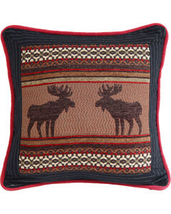 HiEnd Accents Bayfield Square Moose Pillow, , hi-res