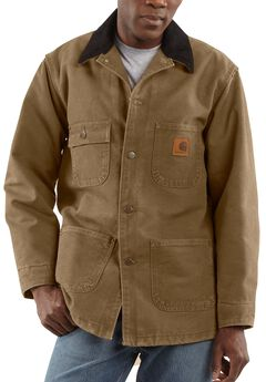 Carhartt Sandstone Chore Coat, Brown, hi-res