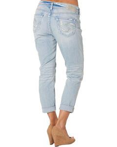 Silver Women's Light Wash Boyfriend Jeans, , hi-res