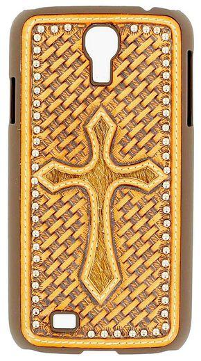 Nocona Basketweave Cross Galaxy S4 Case, Tan, hi-res