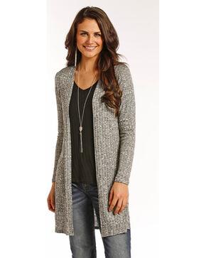 Panhandle Women's Grey Open Front Cardigan , Grey, hi-res