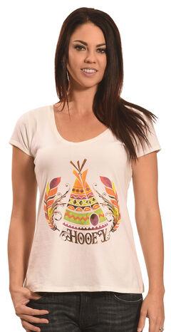 Hooey Women's Cream Teepee T-Shirt , , hi-res