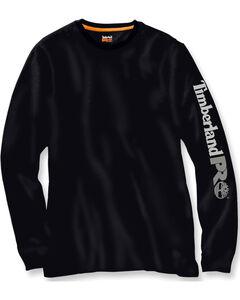 Timberland PRO Men's Black Base Plate Wicking Logo Long Sleeve T-Shirt, , hi-res