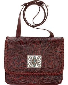 American West Red Grand Prairie Crossbody Flap Bag, Red, hi-res