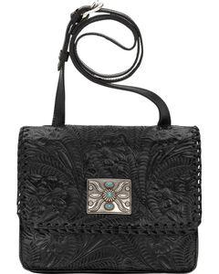 American West Black Grand Prairie Crossbody Flap Bag , , hi-res
