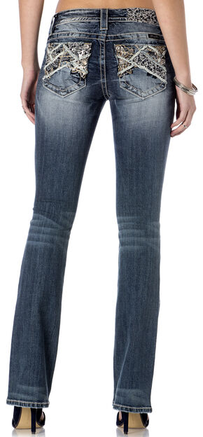 Miss Me Women's Cross Pocket Skinny Jeans , Indigo, hi-res