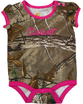 Carhartt Infant Girls' Camo Onesie , Camouflage, hi-res