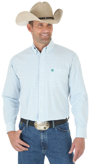 Wrangler Men's Multi Plaid George Strait Long Sleeve Shirt - Big and Tall, Multi, hi-res