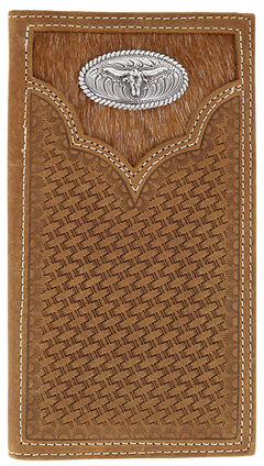 Cody James Men's Hair-on-Hide Longhorn Rodeo Wallet, , hi-res