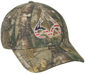 Realtree Men's Camo Americana Cap , Camouflage, hi-res