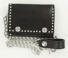 Nocona Men's Studded Chain Wallet, , hi-res