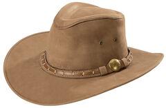 Bullhide Men's Timber Mountain Top Grain Leather Hat, , hi-res