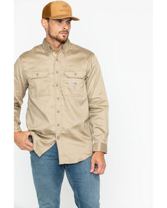 Carhartt Flame Resistant Work-Dry® Twill Long Sleeve Shirt, , hi-res