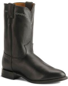 Justin Black Classic Roper Boots - Round Toe, , hi-res