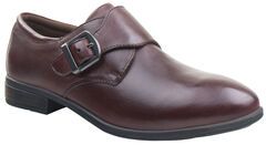 Eastland Women's Brown Farrah Monk Strap Slip-Ons , Brown, hi-res
