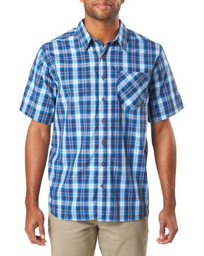 5.11 Tactical Men's Blue Breaker Short Sleeve Shirt , Blue, hi-res