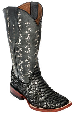 Ferrini Ivy Cowgirl Boots - Wide Square Toe, , hi-res