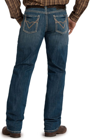 Rock and Roll Cowboy Tuf Cooper Competition Fit - Straight Leg, Med Wash, hi-res