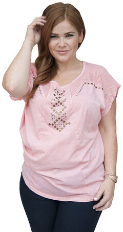 Petrol Women's Mesh Trim Tunic Top - Plus Size, , hi-res