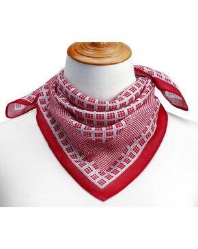 Big Sky Carvers Women's Mini-Checker Pattern Neckerchief , Red, hi-res