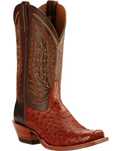 Ariat Brandy Super Stakes Full Quill Ostrich Cowboy Boots - Square Toe, , hi-res