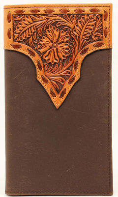 Nocona Stitched Floral Rodeo Wallet, , hi-res