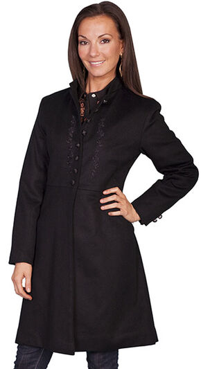 WahMaker by Scully Women's Wool Heritage Coat, Black, hi-res